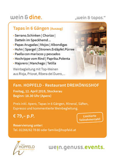 wine &  tapas hopfeld wein genuss events