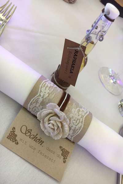 Hochzeit im Dreikönigshof - Tischdeko